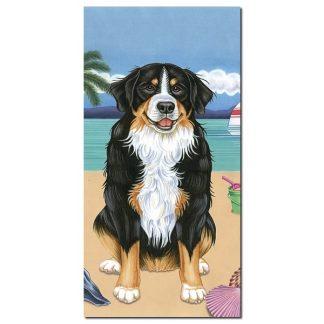 Bernese Mountain Dog Beach Towel - Summer