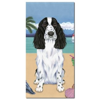English Cocker Spaniel Beach Towel - Summer