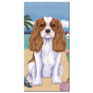 Cavalier Spaniel Beach Towel - Summer