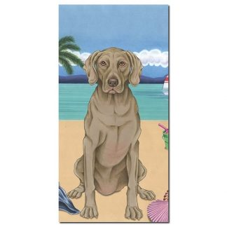 Weimaraner Beach Towel - Summer