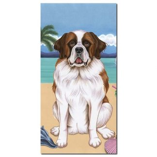 Saint Bernard Beach Towel - Summer