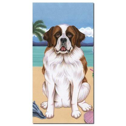 Saint Bernard Beach Towel - Summer