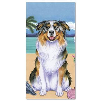 Australian Shepherd Beach Towel - Summer