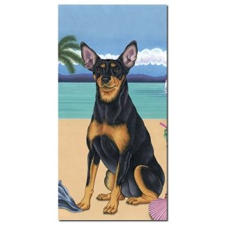 Miniature Pinscher Beach Towel - Summer