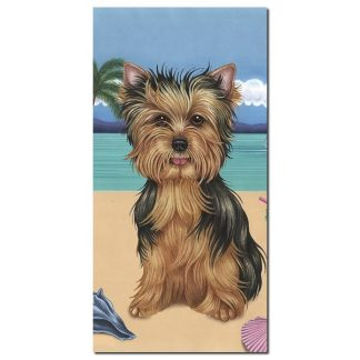 Yorkshire Terrier Beach Towel - Summer