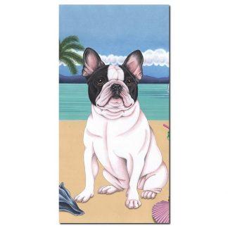 French Bulldog Beach Towel - Summer