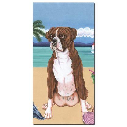 Boxer Beach Towel - Summer (Brindle)