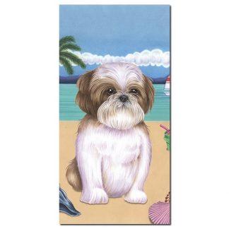 Shih Tzu Beach Towel - Summer (Brown)