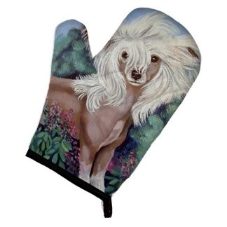 Chinese Crested Oven Mitt