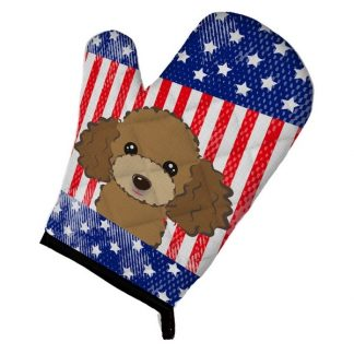 Chocolate Poodle Oven Mitt