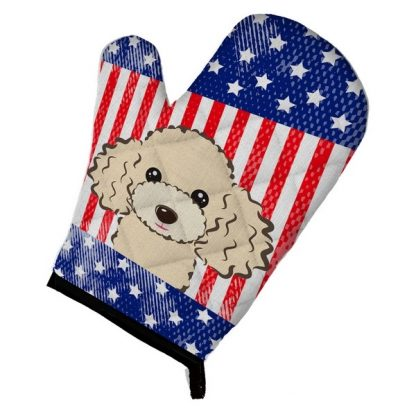 Apricot Poodle Oven Mitt