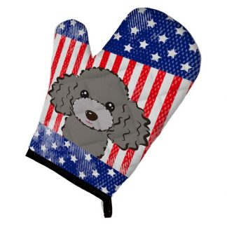 Silver Poodle Oven Mitt