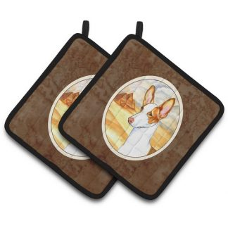 Ibizan Hound Pot Holders (Pair)