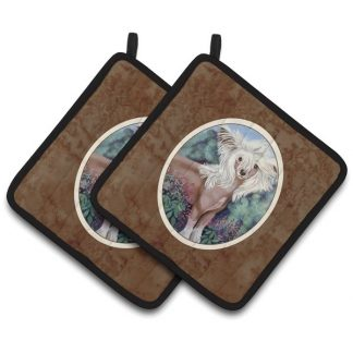 Chinese Crested Pot Holders (Pair)