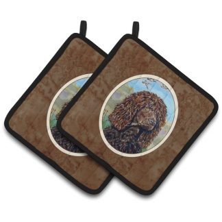 Irish Water Spaniel Pot Holders (Pair)