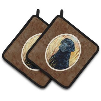 Curly Coated Retriever Pot Holders (Pair)