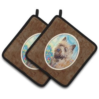 Cairn Terrier Pot Holders (Pair)