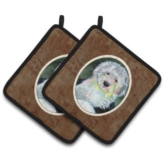 Old English Sheepdog Pot Holders (Pair)