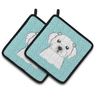 Maltese Pot Holders - Blue (Pair)