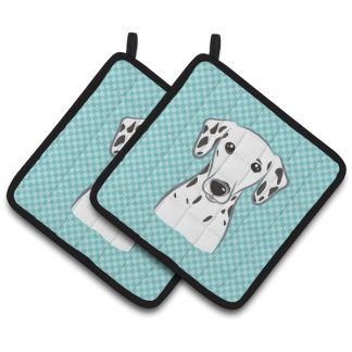 Dalmatian Pot Holders - Blue (Pair)