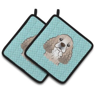 Cocker Spaniel Pot Holders - Blue (Pair)