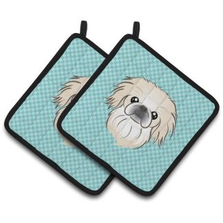 Pekingese Pot Holders - Blue (Pair)