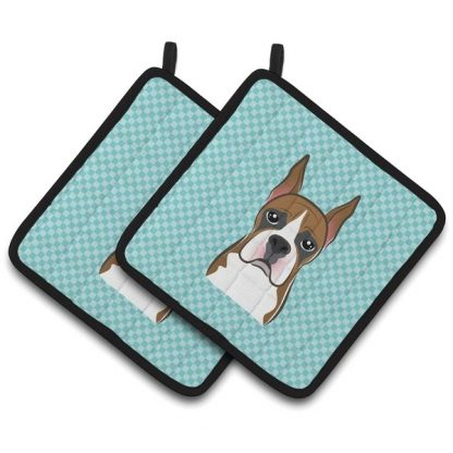 Boxer Pot Holders - Blue (Pair)
