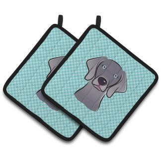 Weimaraner Pot Holders - Blue (Pair)