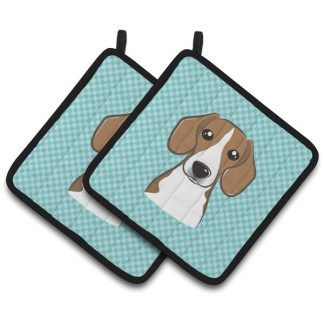 Beagle Pot Holders - Blue (Pair)