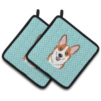 Corgi Pot Holders (Red) - Blue (Pair)