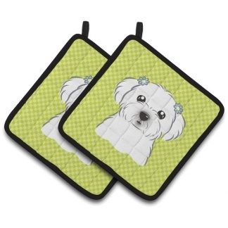 Maltese Pot Holders - Green (Pair)