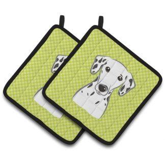 Dalmatian Pot Holders - Green (Pair)