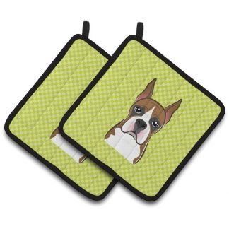 Boxer Pot Holders - Green (Pair)