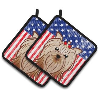Yorkshire Terrier Pot Holders - USA (Pair)