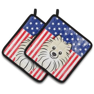 Pomeranian Pot Holders - USA (Pair)
