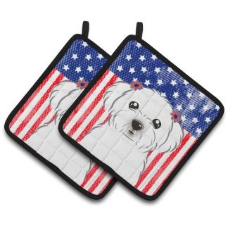 Maltese Pot Holders - USA (Pair)