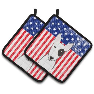 Bull Terrier Pot Holders - USA (Pair)