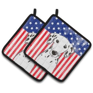 Dalmatian Pot Holders - USA (Pair)