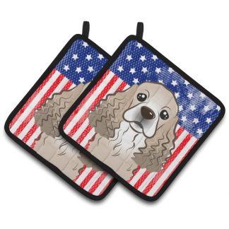 Cocker Spaniel Pot Holders - USA (Pair)
