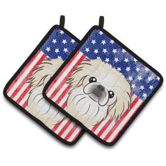 Pekingese Pot Holders - USA (Pair)