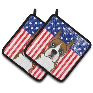 Boxer Pot Holders - USA (Pair)