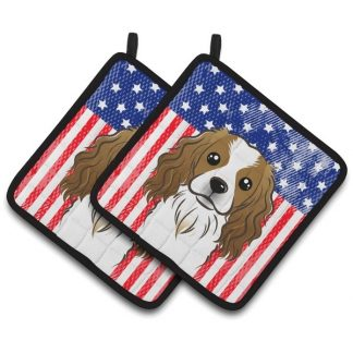 Cavalier Spaniel Pot Holders - USA (Pair)