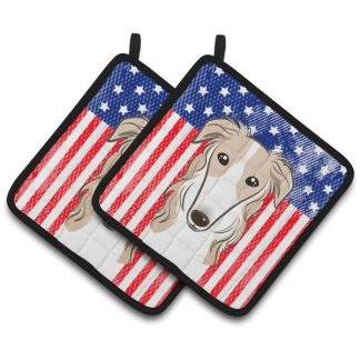 Borzoi Pot Holders - USA (Pair)