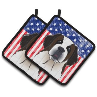 Saint Bernard Pot Holders - USA (Pair)