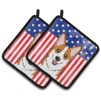 Corgi Pot Holders (Red) - USA (Pair)