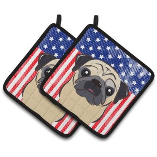Pug Pot Holders - USA (Pair)