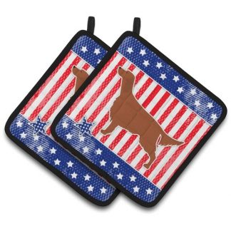 Irish Setter Pot Holders - USA (Pair)