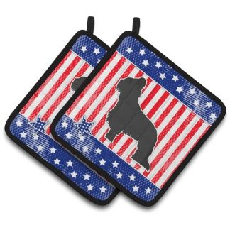 Briard Pot Holders - USA (Pair)
