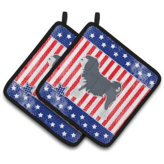 Lowchen Pot Holders - USA (Pair)