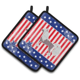 Chinese Crested Pot Holders - USA (Pair)